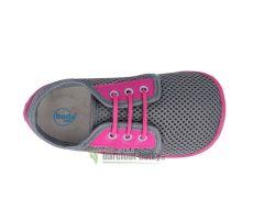 Barefoot Beda barefoot tenisky Sofie - tkaničky bosá