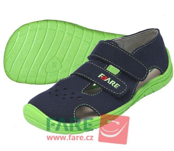 Barefoot FARE BARE dětské letní boty 5262201 bosá