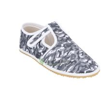 Barefoot Jonap papučky šedý maskáč bosá
