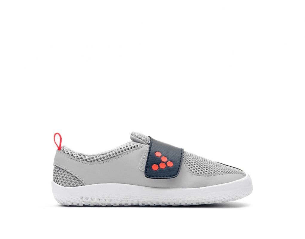 Barefoot Vivobarefoot PRIMUS KIDS Grey Navy Orange bosá