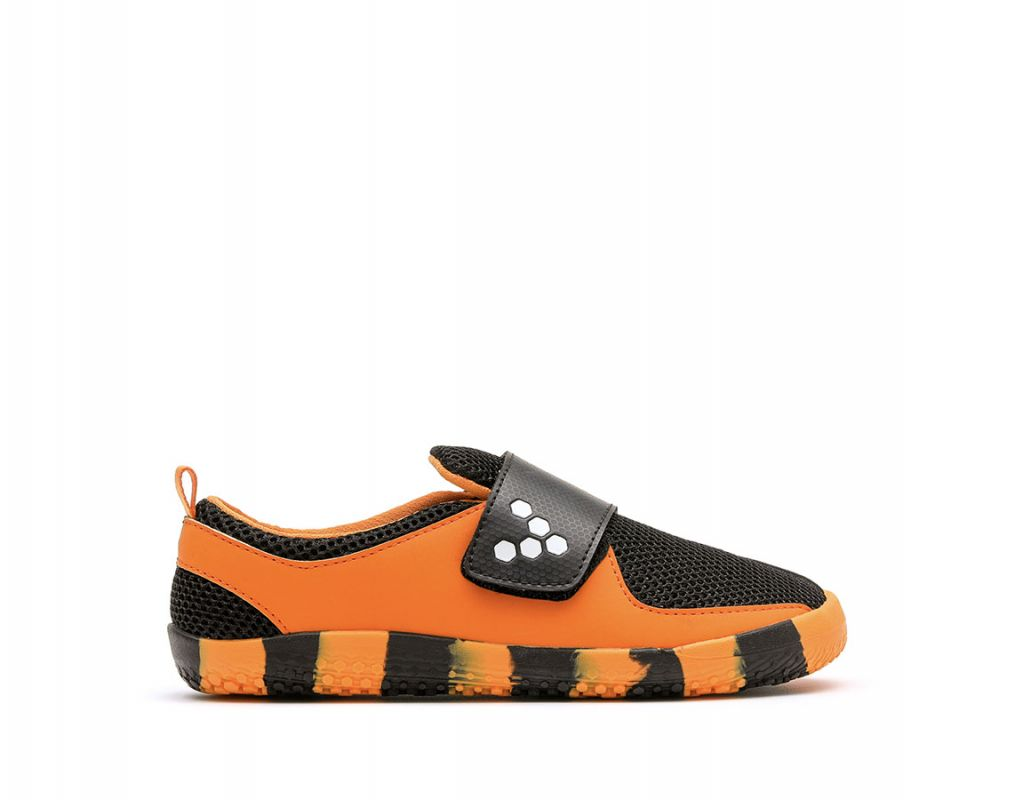 Barefoot Vivobarefoot PRIMUS KIDS K Tiger Orange/Black bosá