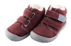 Filiibarefoot- CHAMELEON velours berry velcro wooly M