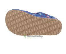 Barefoot Protetika papučky Raven blue bosá