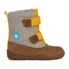 Dětské barefoot boty Affenzahn Minimal Highboot Leather - Tiger/Yellow Brown