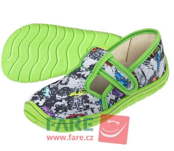 Barefoot FARE BARE DĚTSKÉ PAPUČE NA SUCHÝ ZIP 5102431 bosá