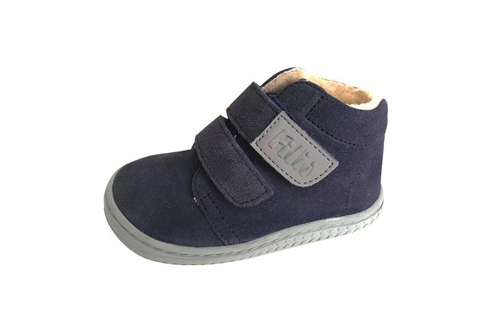 Barefoot Filiibarefoot- CHAMELEON velours ocean velcro wooly M bosá