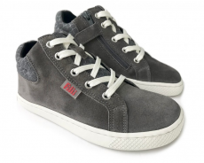 Barefoot Filii Barefoot SKATER ONE laces velours grey M bosá