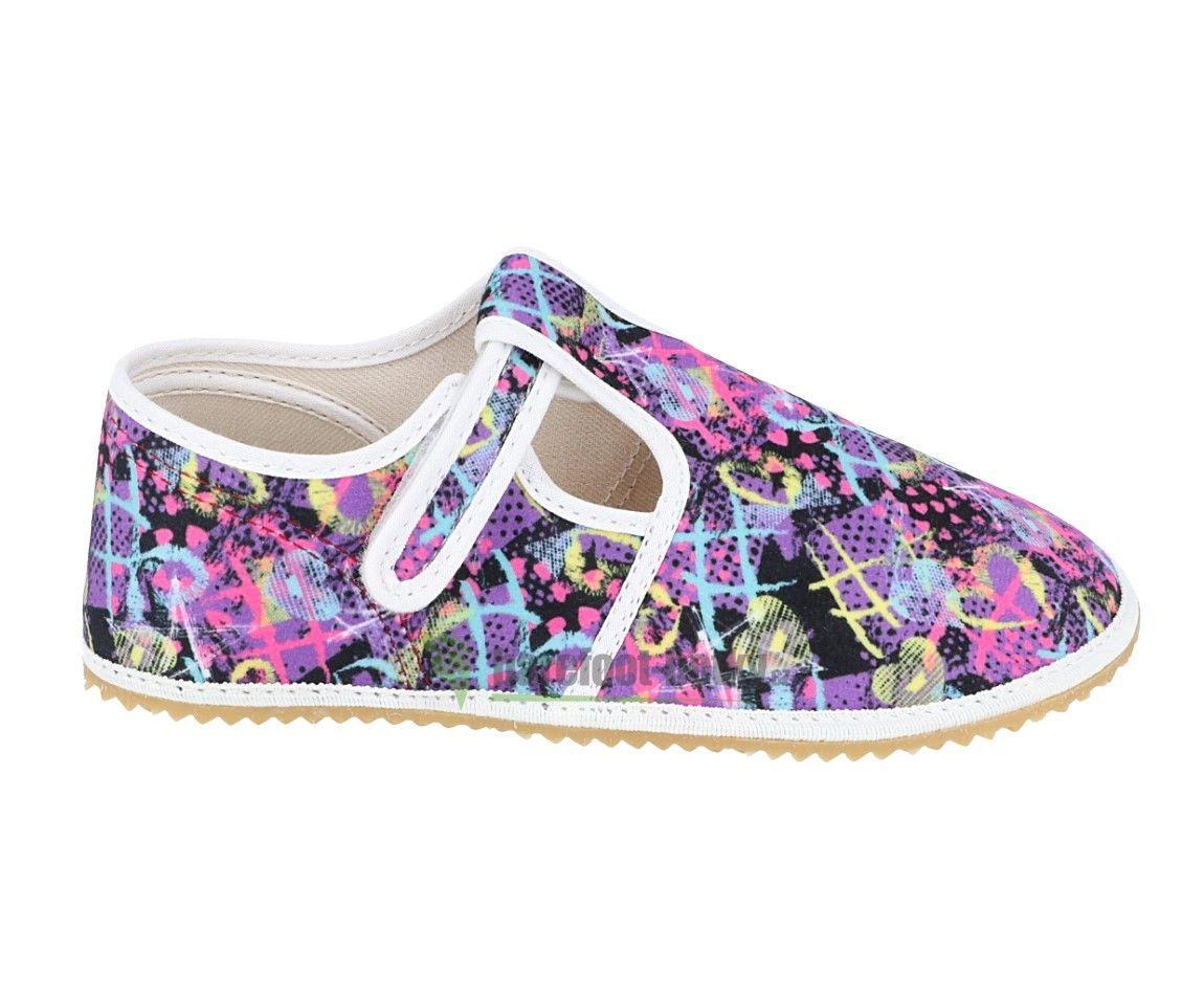 Barefoot Jonap papučky fialovo-černé bosá