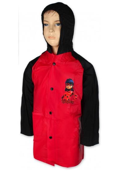 Barefoot Setino Dívčí pláštěnka LADY BUG -červená bosá
