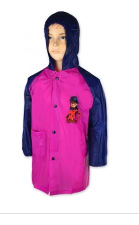 Barefoot Setino Dívčí pláštěnka LADY BUG -růžová bosá
