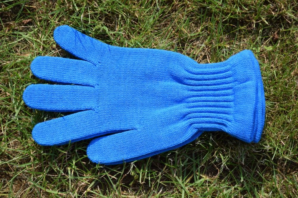 Barefoot Surtex rukavice modré 100% merinové vlny silné bosá
