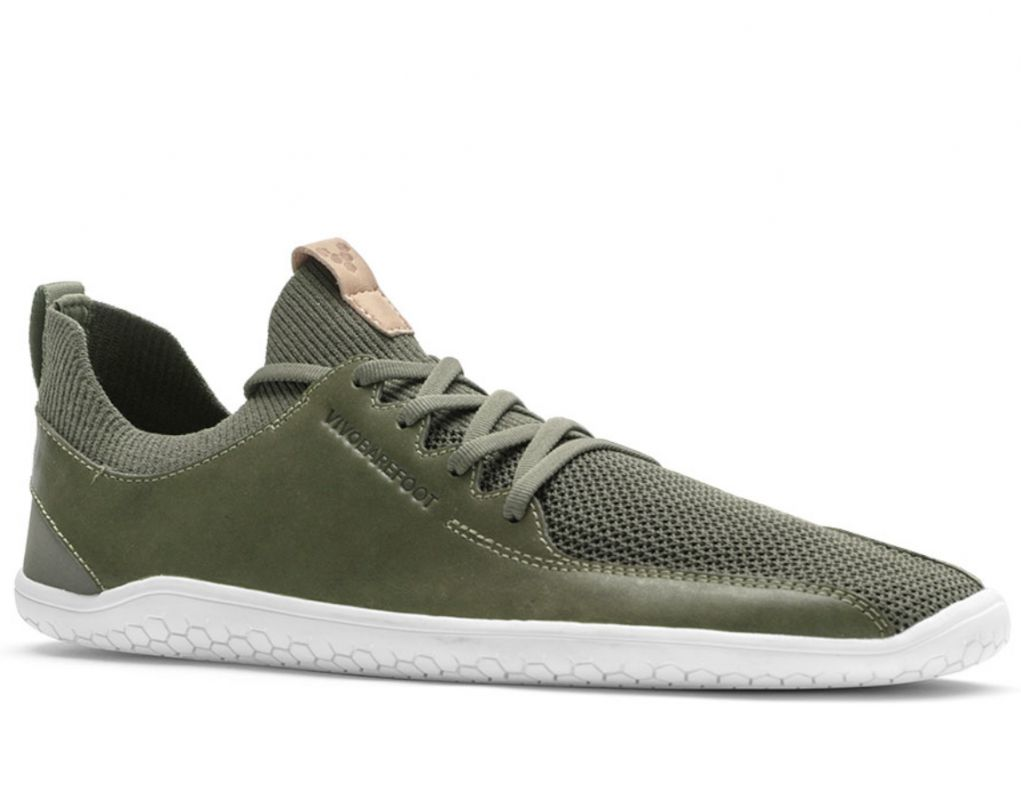 Barefoot Vivobarefoot PRIMUS KNIT LOlive Green Leather bosá