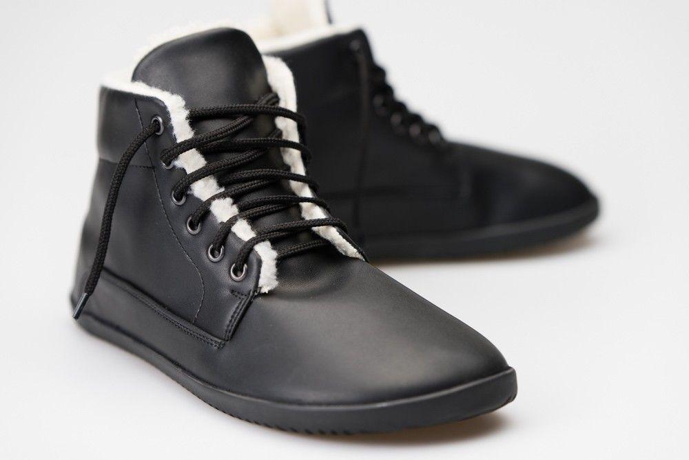Barefoot Ahinsa Bare Ankle Lifo+ Černá Ahinsa shoes bosá