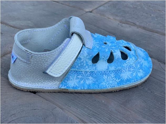 Barefoot Baby bare shoes Sandálky/ papučky IO Snowflakes TS bosá