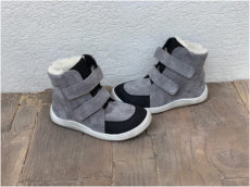 BABY BARE WINTER grey velur OKOP ASFALTICO