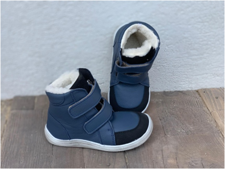 Barefoot BABY BARE WINTER Navy OKOP ASFALTICO BABY BARE SHOES bosá