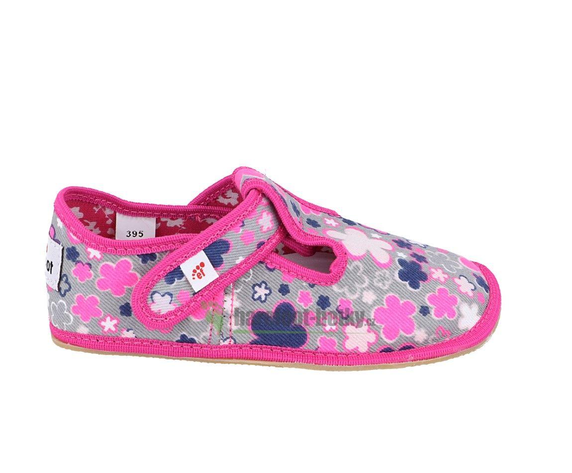 Barefoot Ef barefoot papučky kvítka bosá