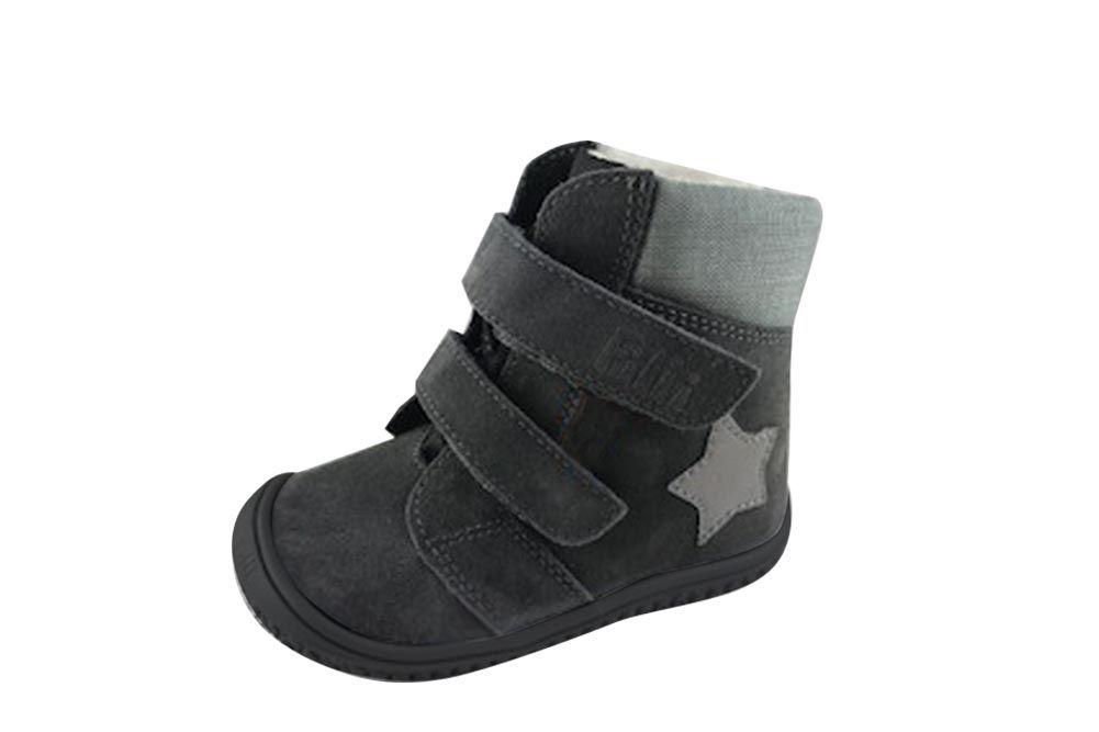 Barefoot Filii barefoot - HIMALAYA velours tex graphit velcro M bosá