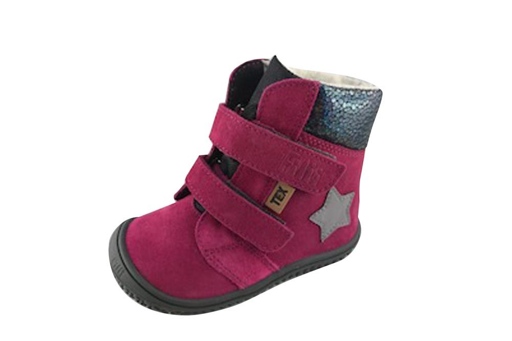 Barefoot Filii barefoot - HIMALAYA velours tex pink velcro M bosá