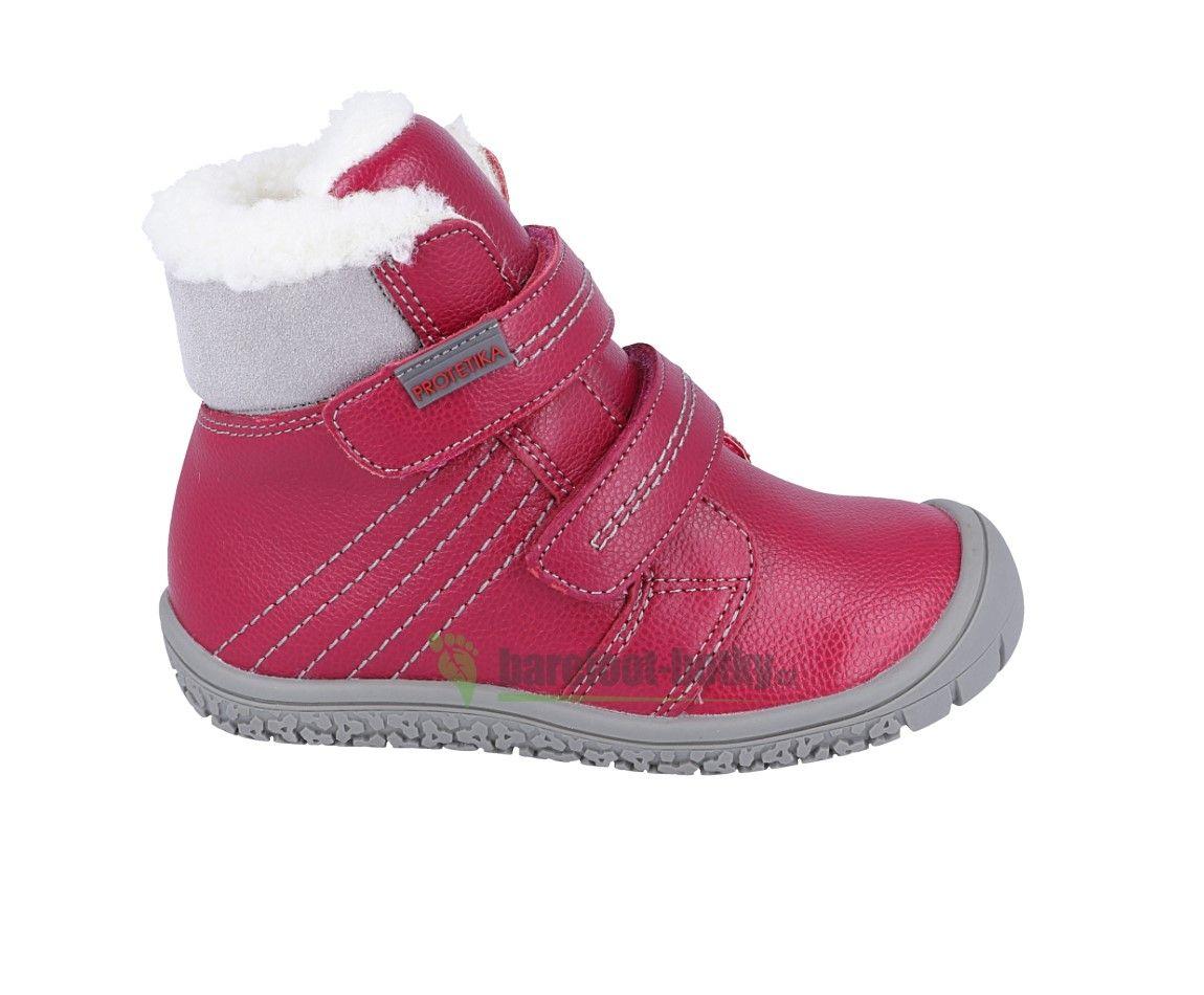 Barefoot Protetika zimní barefoot boty Artik fuchsia bosá