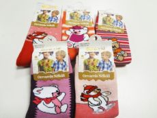 Barefoot Termo ponožky pro holky s medvídkem bosá