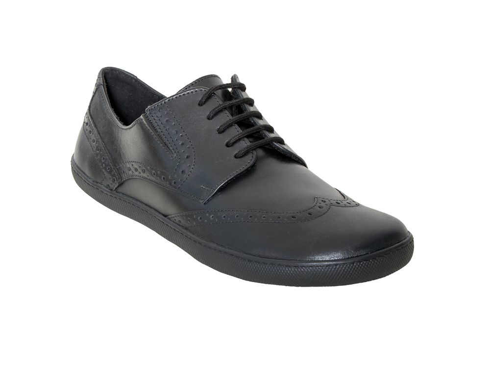 Barefoot Barefoot polobotky Sole runner Janus Black leather bosá