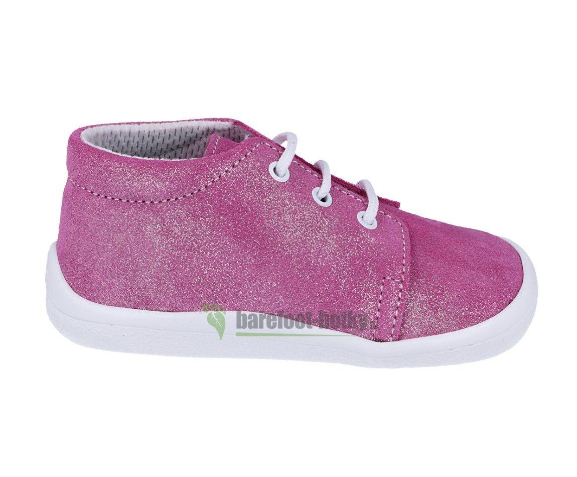 Barefoot Beda barefoot - Janette třpytivé kotníkové boty- - tkaničky bosá
