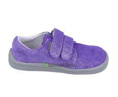 Barefoot Beda Barefoot Violette - nízké třpytivé boty bosá