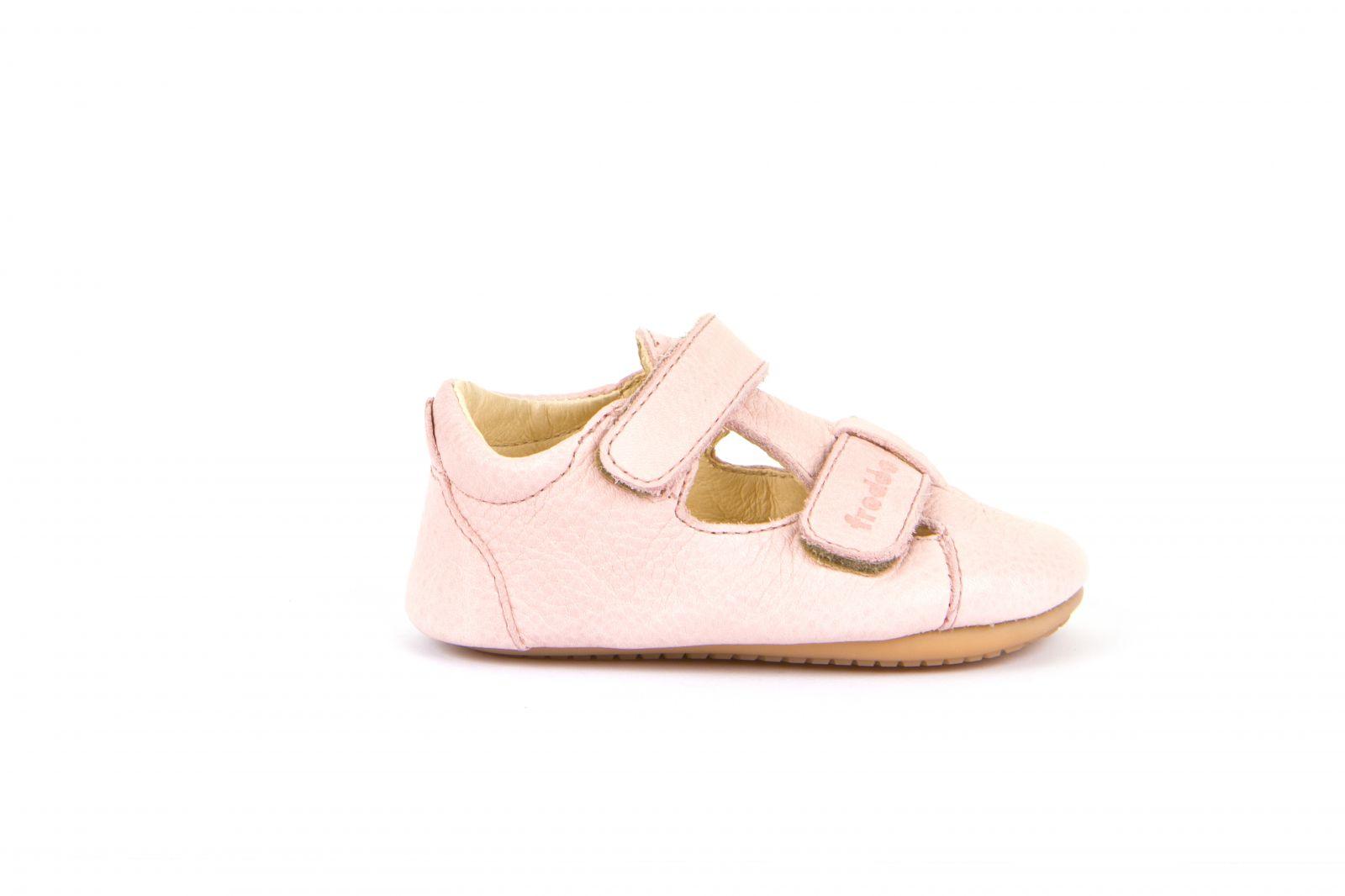 Barefoot Froddo prewalkers sandálky pink - suché zipy bosá