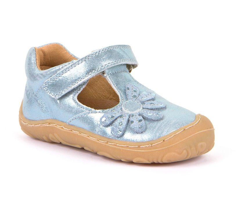 Barefoot Froddo super flexible balerínky light blue bosá