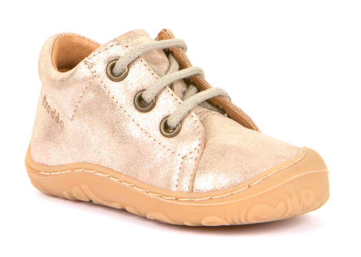 Barefoot Froddo super flexible polobotky gold - tkaničky bosá