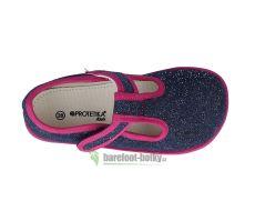 Barefoot Protetika papučky Raven navy bosá
