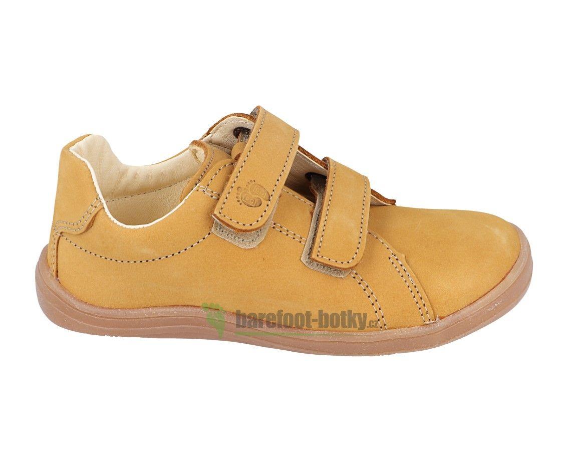 Barefoot Baby bare shoes Febo Spring Mustard Nubuk bosá