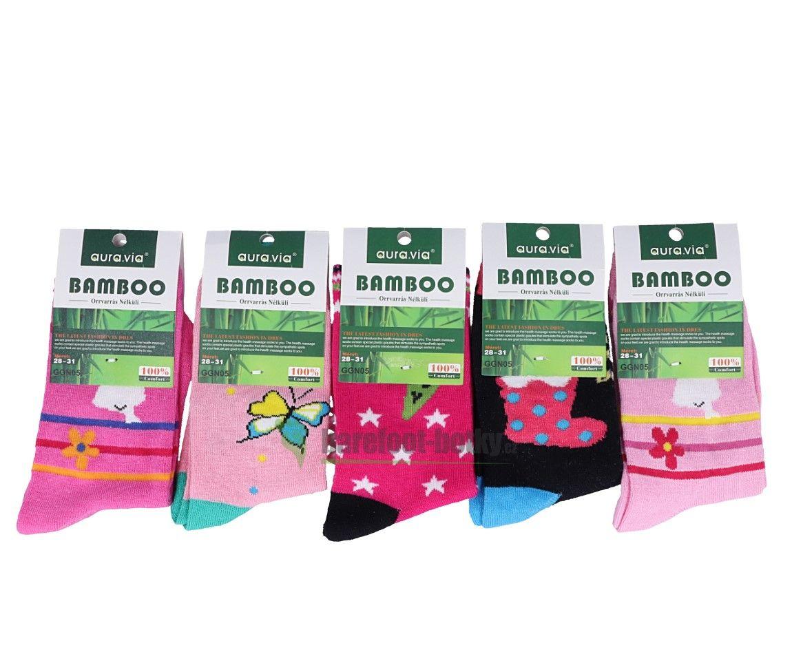 Barefoot Bambusové ponožky AURA VIA - pro holky bosá
