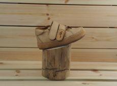 Barefoot kožené boty Pegres B1408 - béžová
