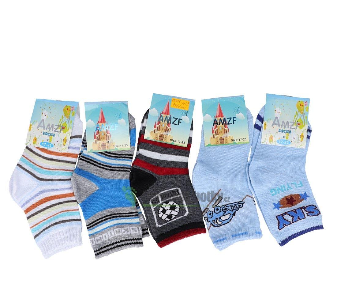 Barefoot Slabé ponožky AMZF - pro kluky bosá