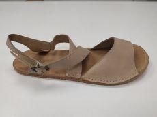 Barefoot Barefoot kožené sandále béžové 02 ORTOplus Barefoot bosá