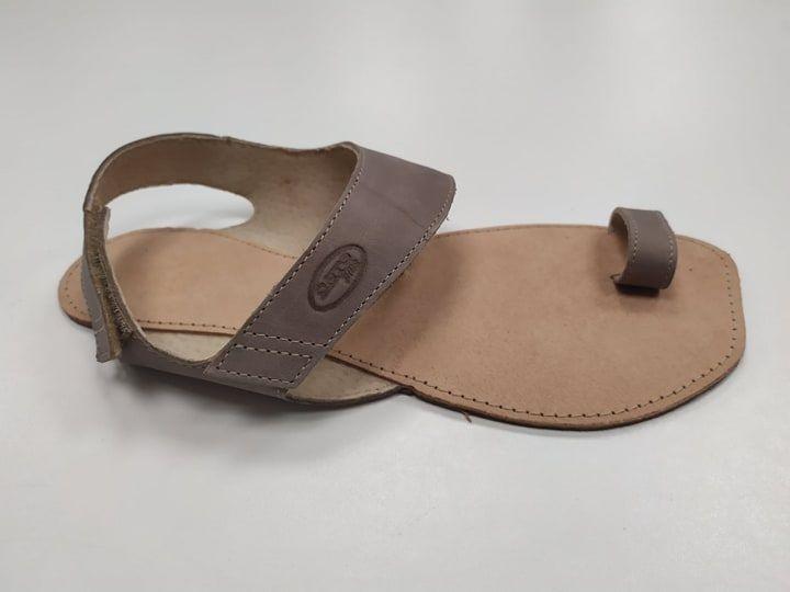 Barefoot Barefoot sandále Dione šedé ORTOplus Barefoot bosá
