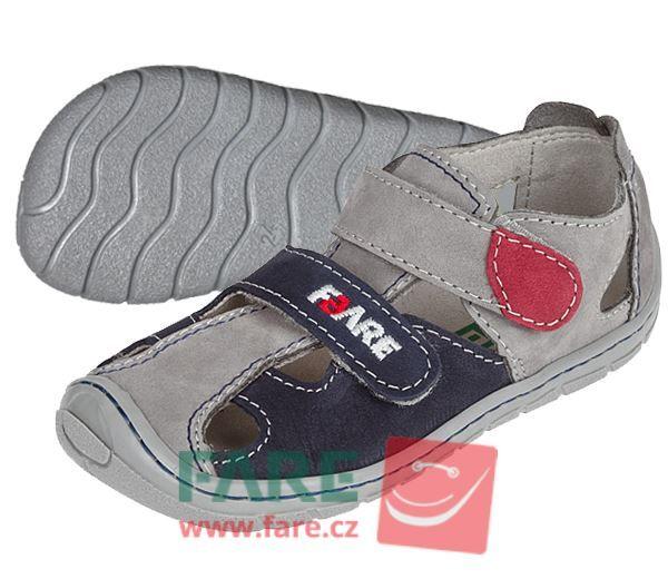 Barefoot FARE BARE dětské letní boty 5161261 bosá