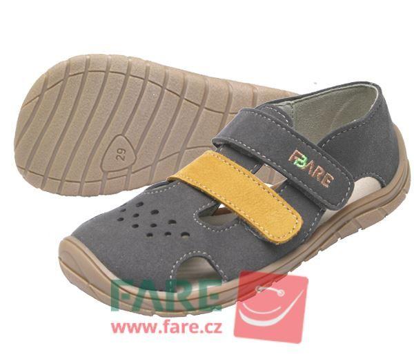 Barefoot FARE BARE dětské letní boty 5262261 bosá