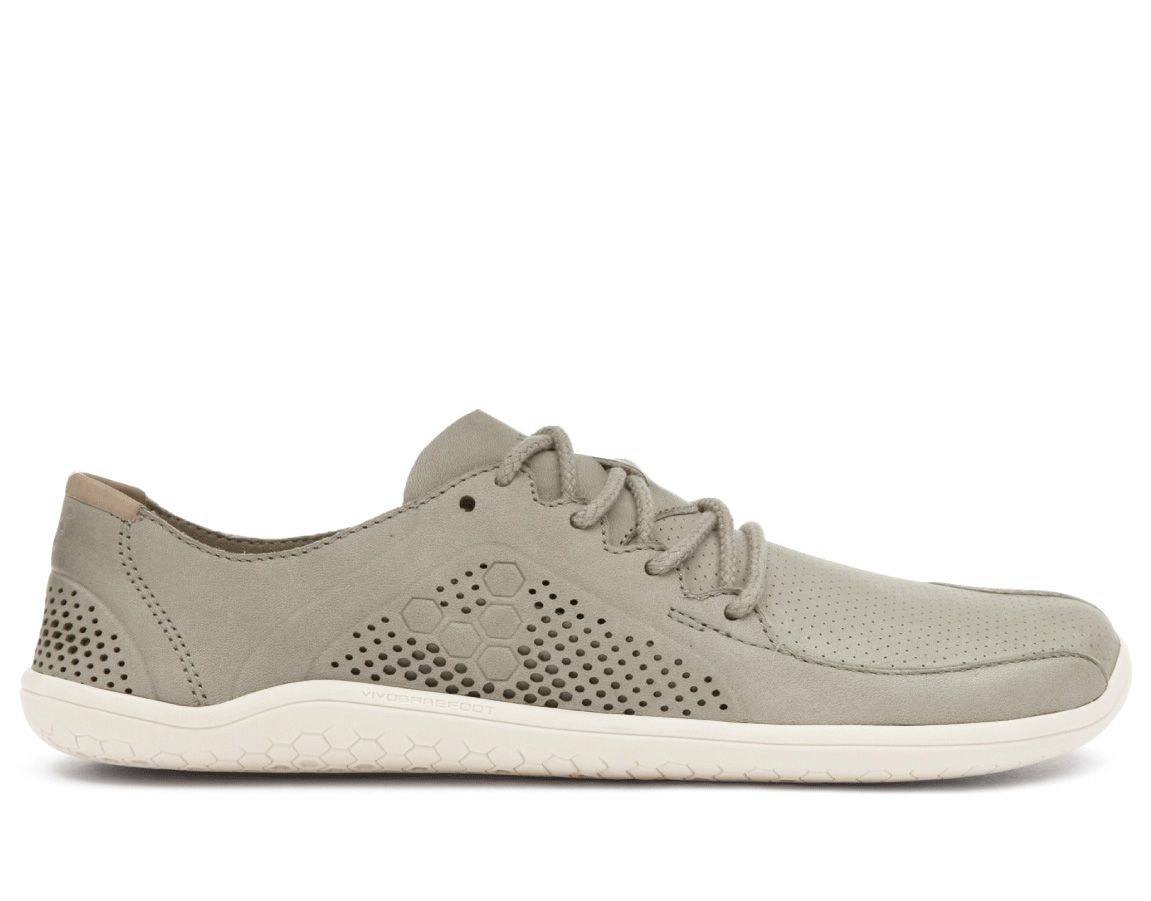 Barefoot Vivobarefoot PRIMUS LUX M Leather Light Grey bosá