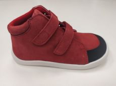 Baby bare shoes Febo Fall Red s okopem