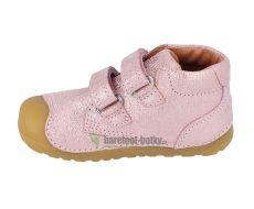 Barefoot Barefoot boty Bundgaard Petit Velcro Pink Grille bosá
