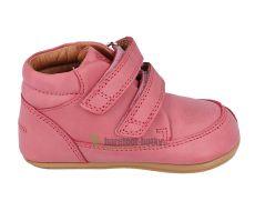 Barefoot Barefoot boty Bundgaard Prewalker II Velcro Soft Rose WS bosá