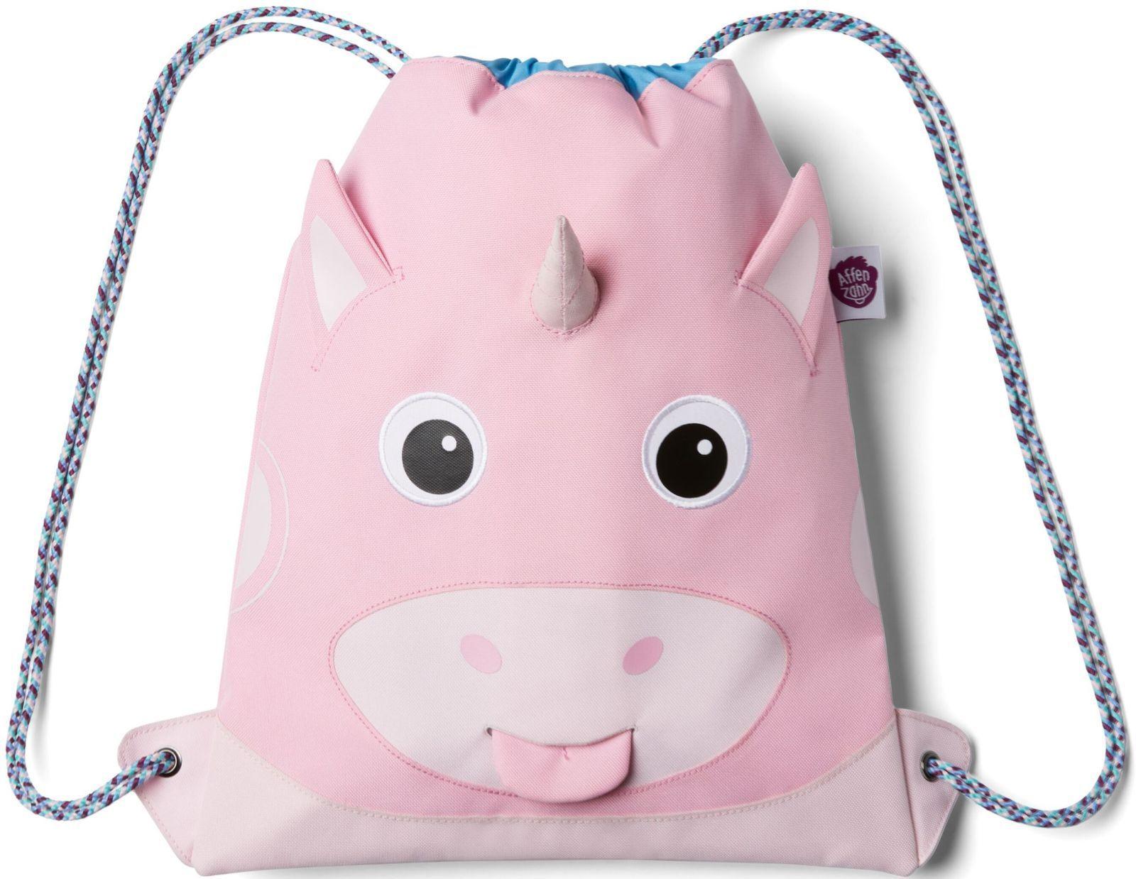 Barefoot Dětský batůžek Affenzahn Kids Sportsbag Unicorn - pink bosá