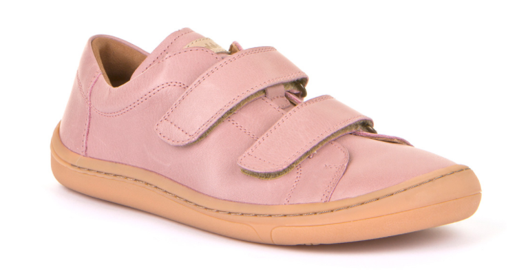 Barefoot Froddo barefoot celoroční boty pink - suché zipy bosá