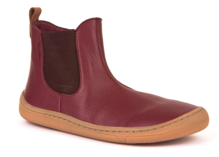 Barefoot Froddo barefoot kotníkové boty Bordeaux - chelsea bosá