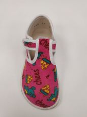 Barefoot Jonap papučky růžové s myškou bosá