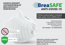 Pardam Nano respirátor BreSAFE® ANTI-COVID-19 3 ks