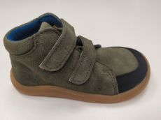 Baby bare shoes Febo Fall Khaki Velour s okopem